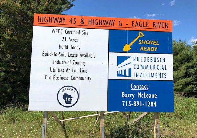 wedc-site-eagle-river-sign
